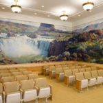 Twin Falls Temple ordinance room with mural