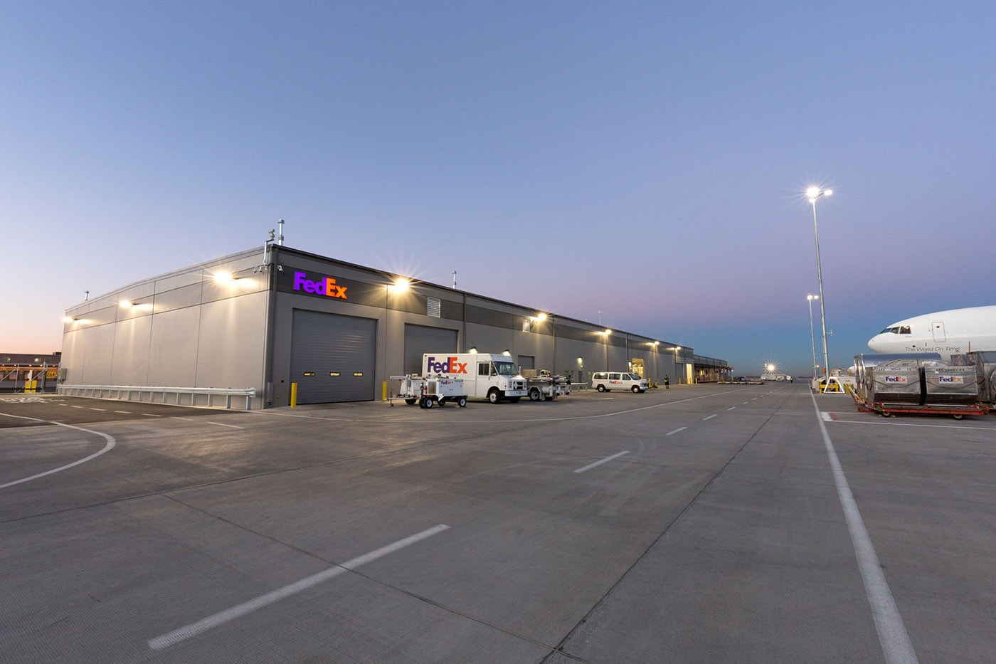 due to the redevelopment of the salt lake city international airport fedex relocated from the space they were previously in at the airport
